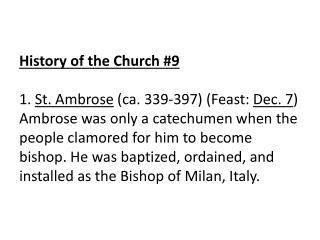 History of the Church \_9