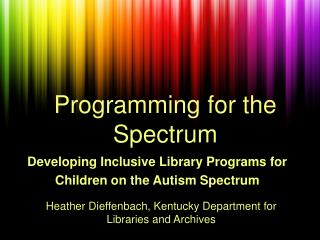 Programming for the Spectrum