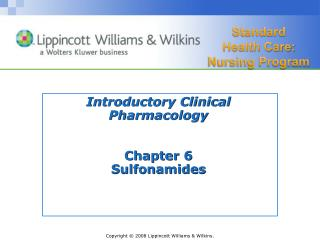 Introductory Clinical Pharmacology Chapter 6 Sulfonamides