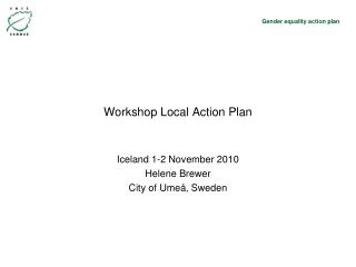 Workshop Local Action Plan