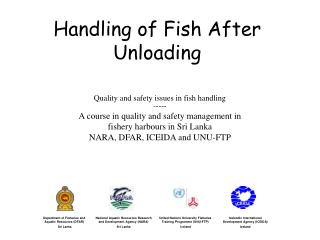 Handling of Fish After Unloading