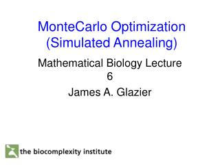 MonteCarlo Optimization (Simulated Annealing)