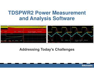 TDSPWR2 Power Measurement and Analysis Software