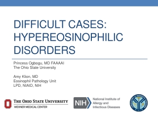 Difficult cases: Hypereosinophilic Disorders