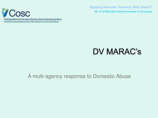 Stopping Domestic Violence: What Works? 28 th  to 30 th  May 2008, Waterford Institute of Technology