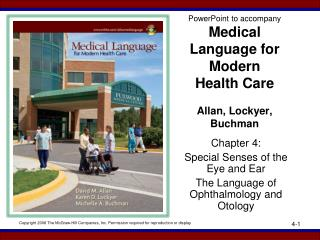 PowerPoint to accompany Medical Language for Modern  Health Care Allan, Lockyer, Buchman