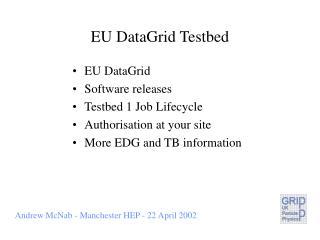 EU DataGrid Testbed
