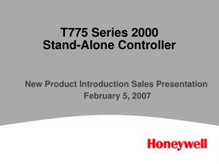 T775 Series 2000  Stand-Alone Controller