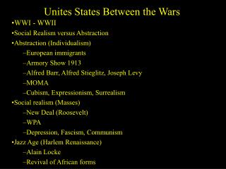 Unites States Between the Wars