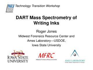 DART Mass Spectrometry of Writing Inks