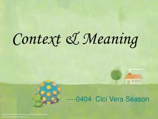 Context & Meaning