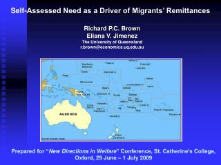 Self-Assessed Need as a Driver of Migrants' Remittances