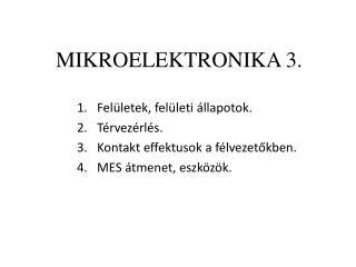 MIKROELEKTRONIKA 3.