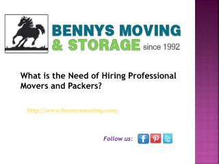 What is the Need of Hiring Professional Movers and Packers