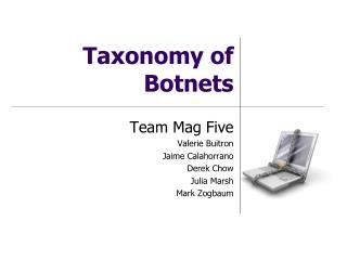 Taxonomy of Botnets