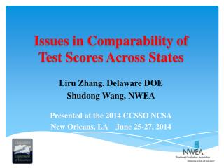 Issues in Comparability of Test Scores Across States
