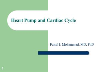 Heart Pump and Cardiac Cycle