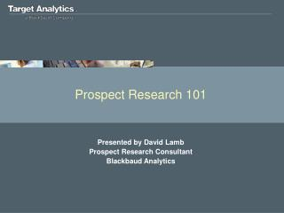 Prospect Research 101