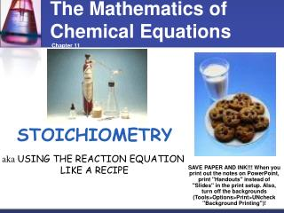 The Mathematics of Chemical Equations  Chapter 11