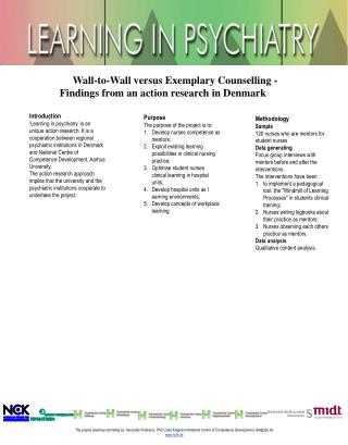 Wall-to-Wall versus Exemplary Counselling - Findings from an action research in Denmark