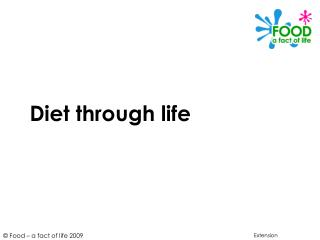 Diet through life