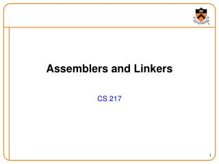 Assemblers and Linkers