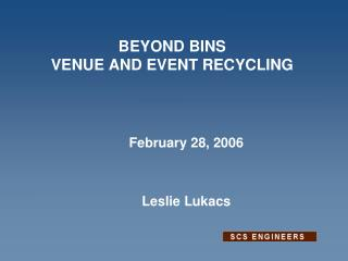 BEYOND BINS VENUE AND EVENT RECYCLING