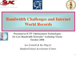 Achieving High Throughput on Fast Networks (Bandwidth Challenges and World Records)