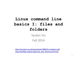 Linux command line basics I: files and folders