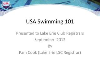 USA Swimming 101