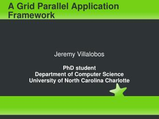 A Grid Parallel Application Framework