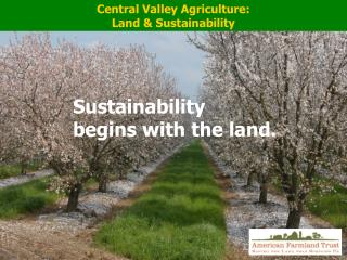 Central Valley Agriculture:  Land & Sustainability