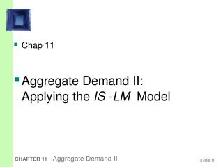 Chap 11 Aggregate Demand II: Applying the  IS  - LM   Model
