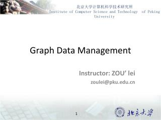 Graph Data Management