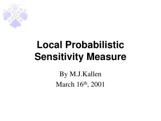 Local Probabilistic Sensitivity Measure