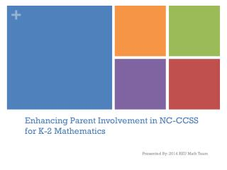 Enhancing Parent Involvement in NC-CCSS for K-2 Mathematics