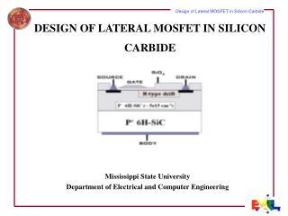 DESIGN OF LATERAL MOSFET IN SILICON CARBIDE