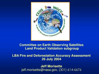 Committee on Earth Observing Satellites  Land Product Validation subgroup