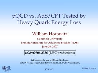 pQCD vs. AdS/CFT Tested by  Heavy Quark Energy Loss