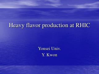 Heavy flavor production at RHIC