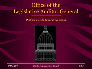 Office of the Legislative Auditor General