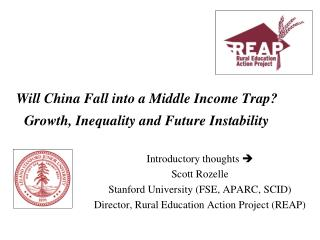 Will China Fall into a Middle Income Trap?  Growth, Inequality and Future Instability