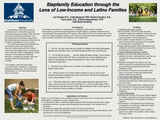 Stepfamily Education through the  Lens of Low-Income and Latino Families