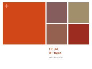Ch 4d B+ trees