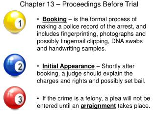 Chapter 13   Proceedings Before Trial