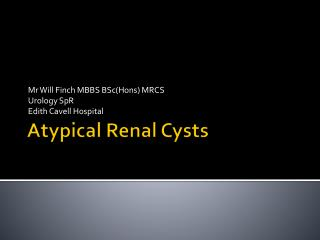 Atypical Renal Cysts
