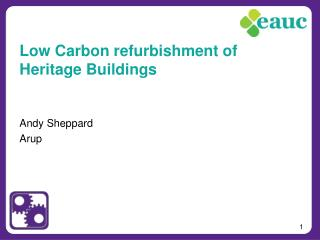 Low Carbon refurbishment of Heritage Buildings