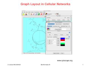 Graph Layout in Cellular Networks