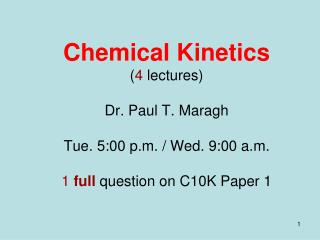 What is Chemical Kinetics?