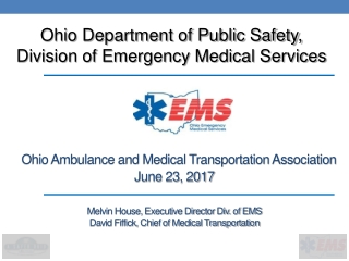 Ohio Department of Public Safety, Division of Emergency Medical Services